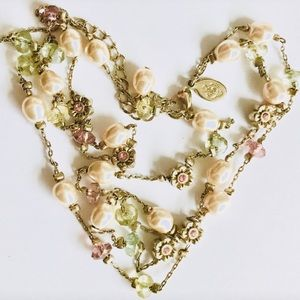 Juicy Couture Boho Pearl Layered Necklace 🌸
